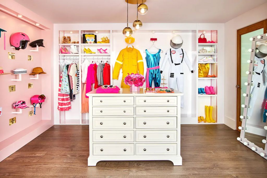 Barbie Malibu Dreamhouse Walk-In Closet Airbnb