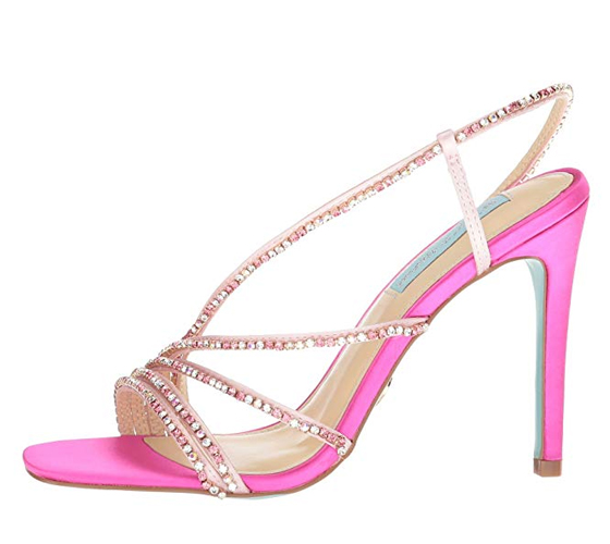 Blue by Betsey Johnson Aces in Pink Fuchsia Satin