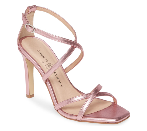 Chinese Laundry Jaydee Sandal in Pink Faux Leather