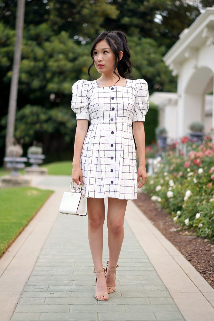 Gal Meets Glam Windowpane Dawn Dress