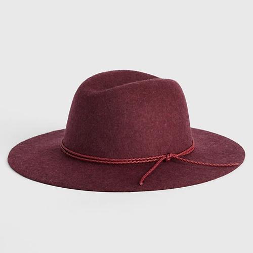 Gap Red Radish Wide-Brim Wool Fedora