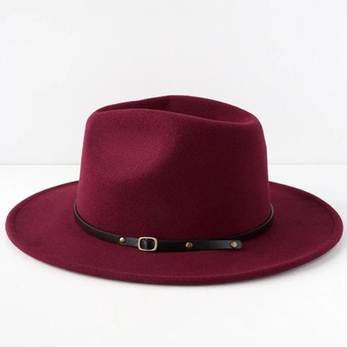 Lulus Wilinda Burgundy Felt Hat