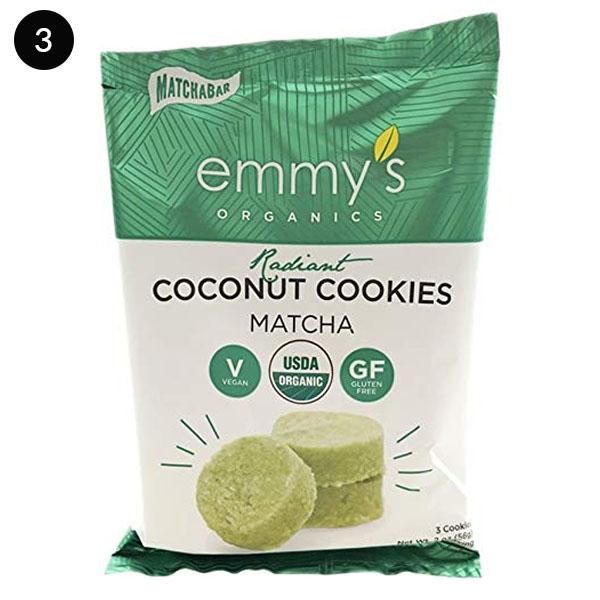 Emmy's Organics Coconut Cookies, Radiant Matcha