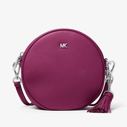 Michael Michael Kors Pebbled Leather Canteen Crossbody Garnet Bag
