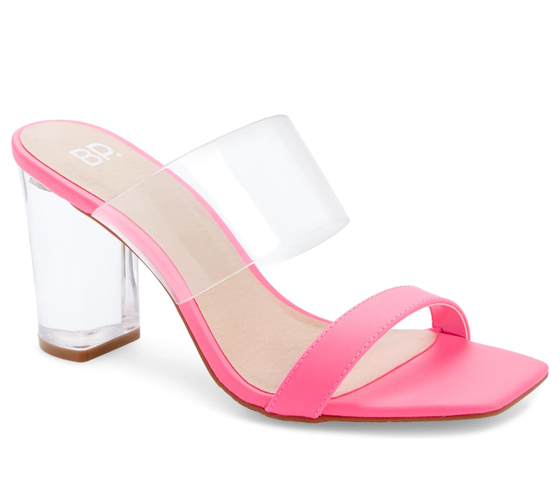 Nordstrom BP Naomi Sandal in Neon Pink Faux Leather