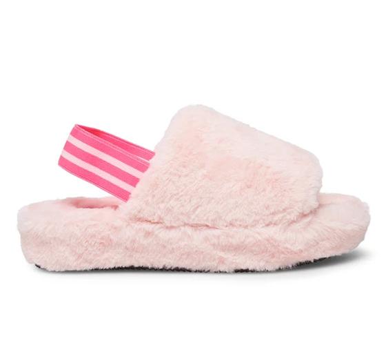 Steve Madden Fuzz Pink Slippers