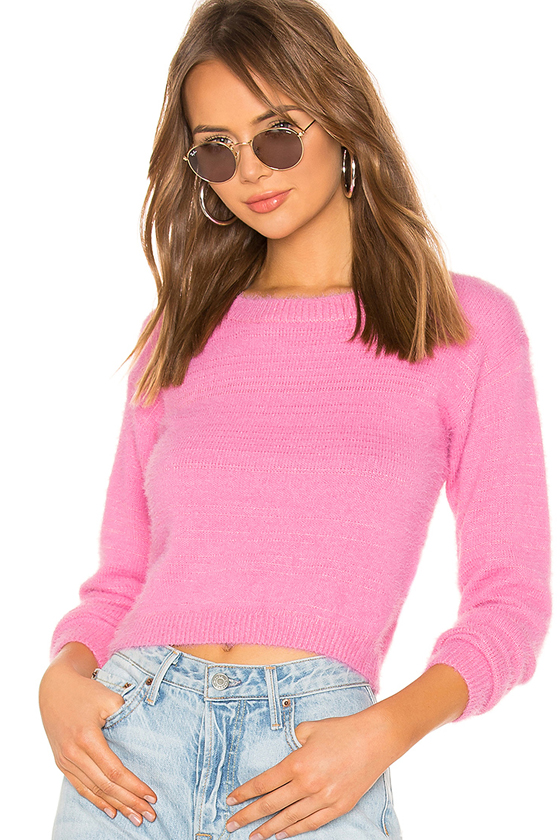Superdown Kristina Knit Pink Sweater