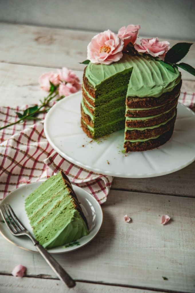 Sweet Laurel Matcha Cake