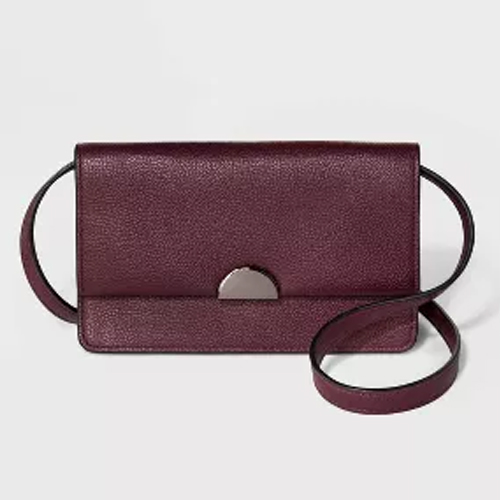 Target A New Day Wallet On A String Crossbody Burgundy Bag