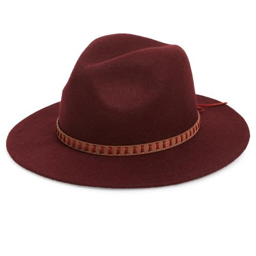 Treasure & Bond Wool Felt Panama Burgundy Hat