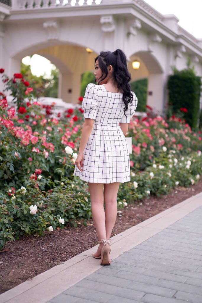 Gal Meets Glam Dawn Windowpane Shirtdress with pockets