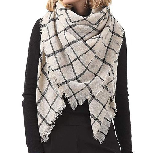Zando Plaid Grid Scarf