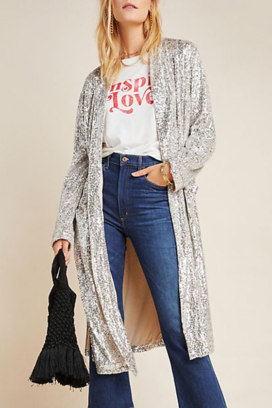 BB Dakota Dulcinea Sequined Duster Jacket, PXXS