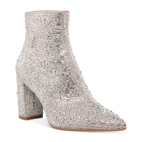 Blue by Betsey Johnson Cady Evening Rhinestone Booties