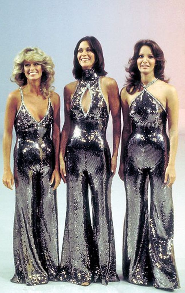 Charlie's Angels 70s Silver Jumpsuits