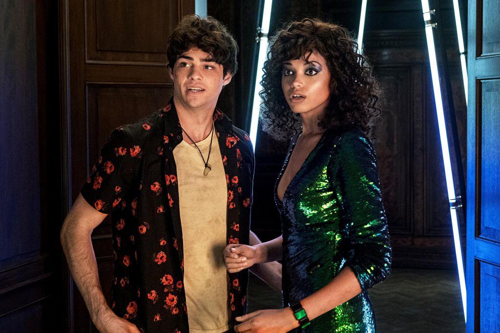 Noah Centineo as Langston and Ella Balinska as Jane in Charlie's Angels.