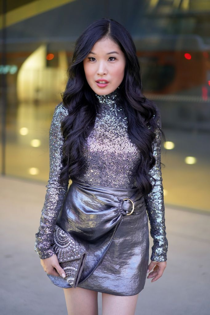 House of Harlow x Revolve Valerie Silver Sequin Turtleneck