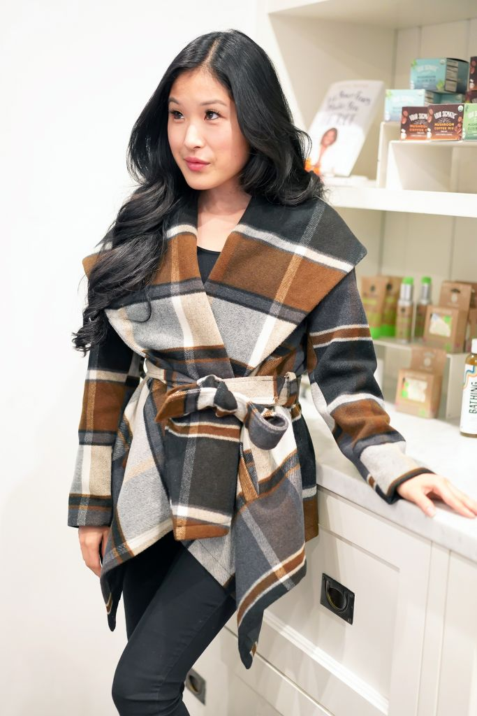 Chicwish Prairie Check Rabato Coat by Chic+ with side pockets