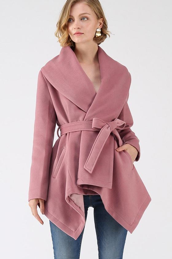 Chicwish Prairie Rabato Coat in Pink