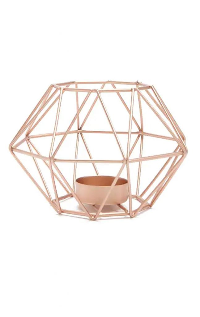Forever 21 Geometric Metal Candle Holder