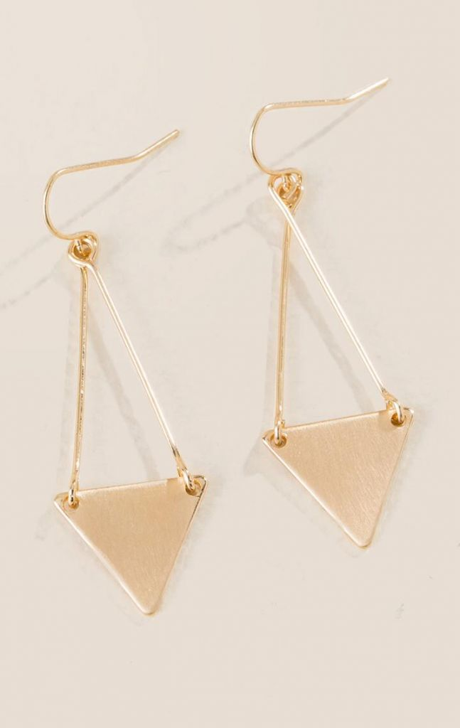 Francesca's Merritt Triangle Drop Earrings