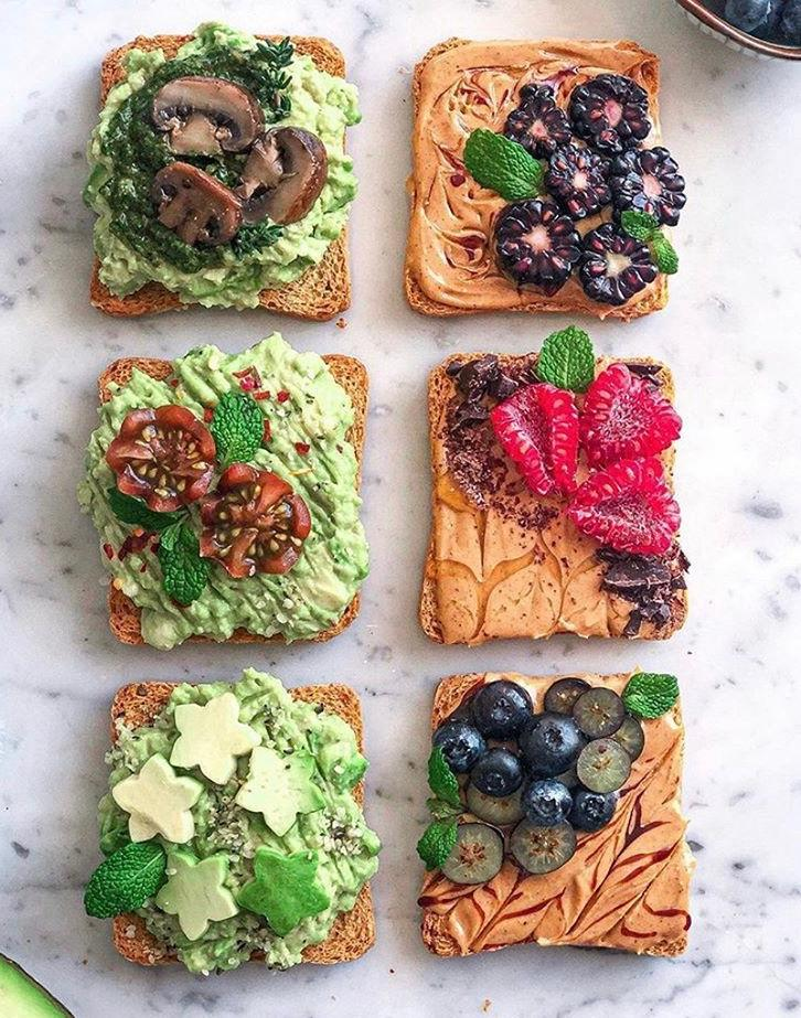 Friendsgiving Avocado and Nut Butter Toasts