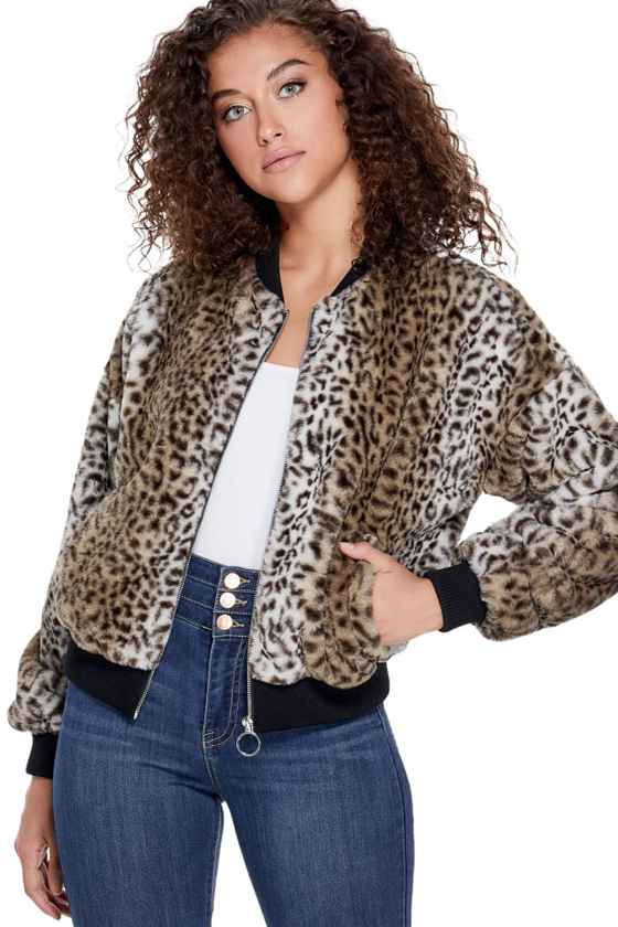 Guess Factory Cai Faux-fur Bomber Jacket