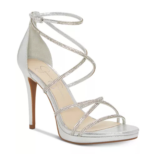 Jessica Simpson Jaeya Strappy Platinum Dress Sandals