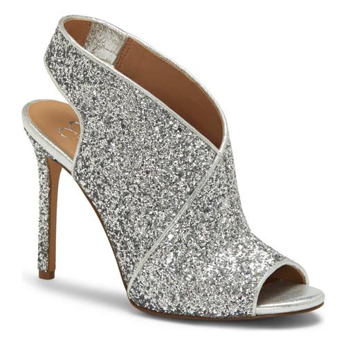 Jessica Simpson Jourie Slingback Silver Glitter Sandal