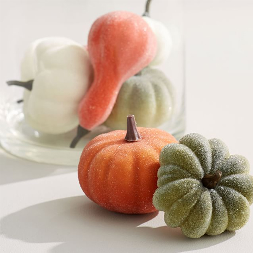 Pottery Barn Sugared Pumpkin Decorative Filler