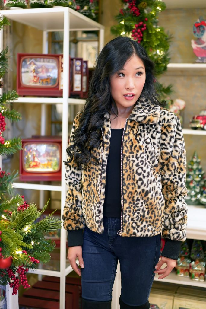 Nine West Faux Fur Leopard Jacket, Roger's Gardens Christmas Boutique 2019