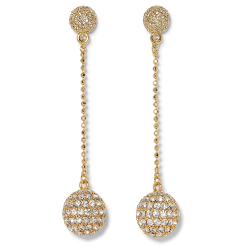 Vince Camuto Disco Ball Pavé Linear Drop Earrings
