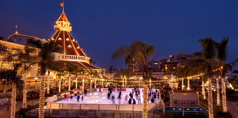 Hotel Del Coronado, Ice Skating Rink, Skating by the Sea