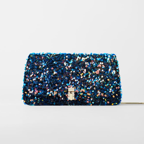 Zara Multicolored Sequined Bag