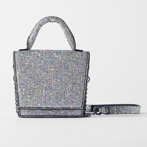Zara Sparkly Mini Crossbody Bag