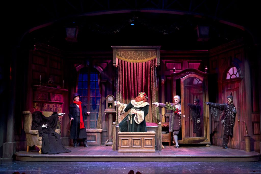 A Christmas Carol Ghosts and Scrooge South Coast Repertory Theatre
