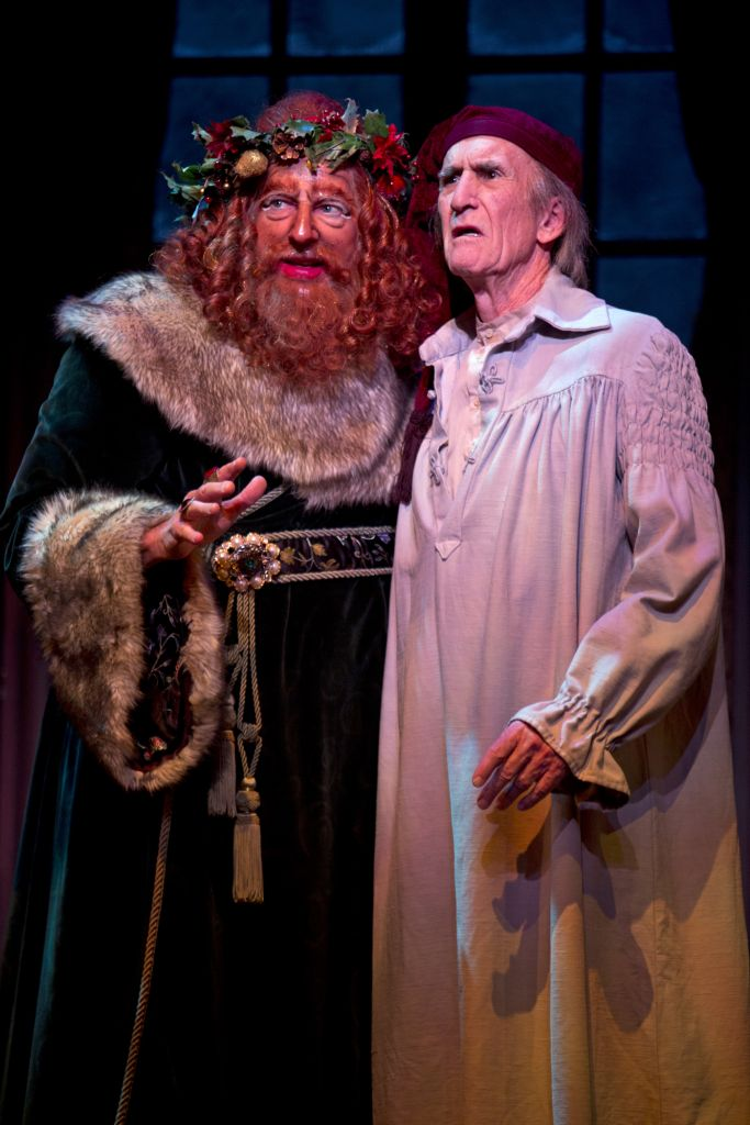 South Coast Repertory A Christmas Carol Scrooge and Ghost of Christmas Present
