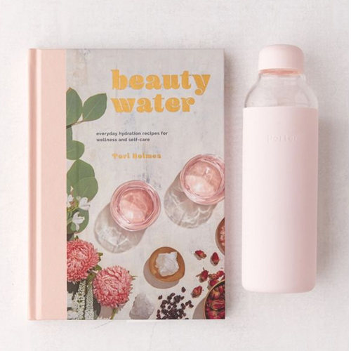 Beauty Water Book And Water Bottle Set from Urban Outfitters