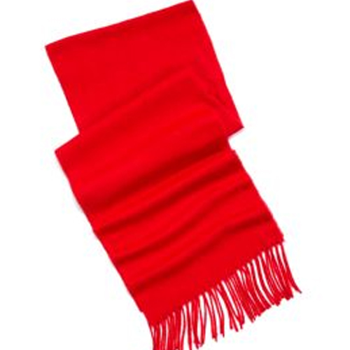 Belk Solid Red Cashmere Scarf