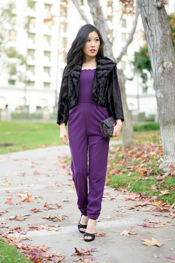 Aqua Scalloped Cropped Jumpsuit in Plum, Strolling around the Avenue of the Arts Hotel Lake, Courtney Kato