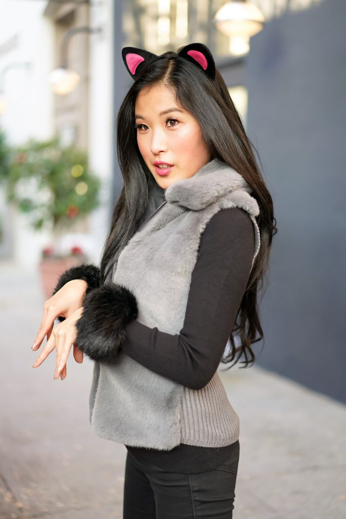 Cats Movie Musical Fashion Inspiration, Cat Ears, Faux Fur Vest and Cuffs