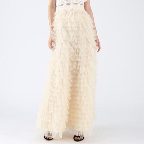 Chicwish Swan Cloud Maxi Skirt