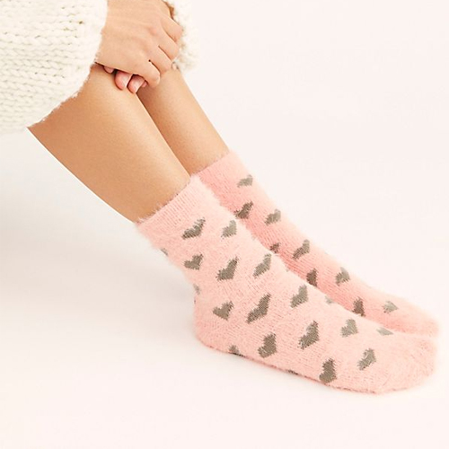 Queen Of Hearts Pink Combo Crew Sock - $14 Free People