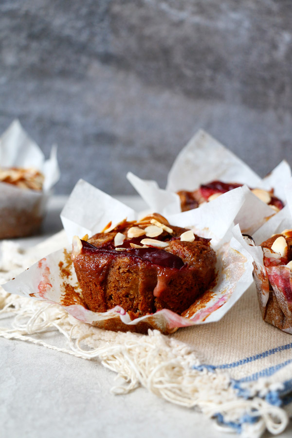 Gluten Free Vegan Plum Muffins