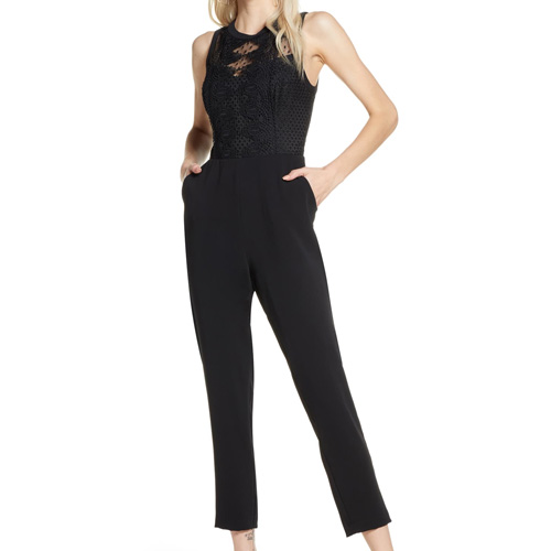 Harlyn Embroidered Lace Jumpsuit