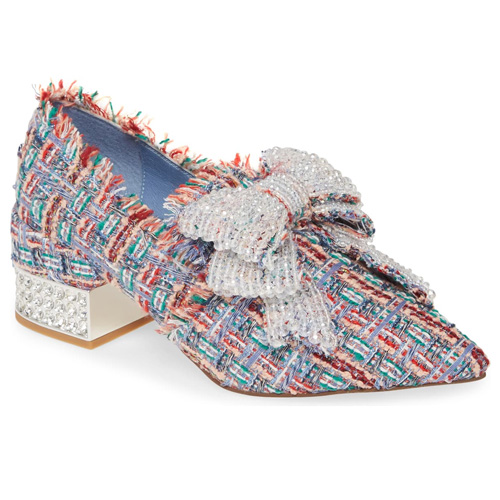 Jeffrey Cambell Valensia Pump in Blue Multi Tweed