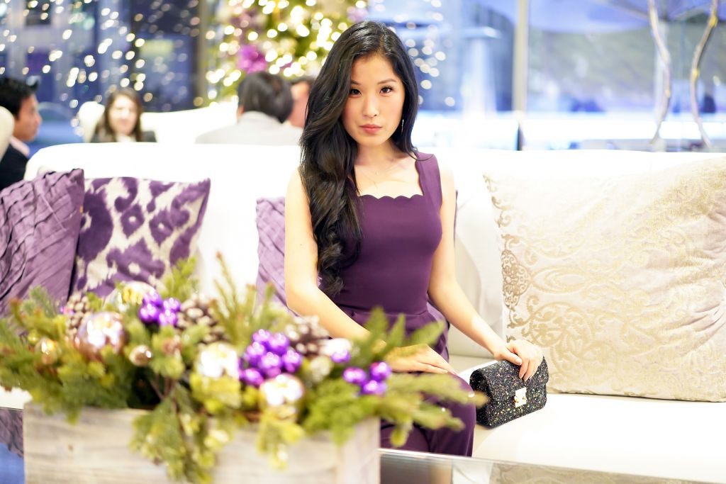 Christmas at the Silver Trumpet Bar, Avenue of the Arts Hotel, Plum Jumpsuit, Courtney Kato