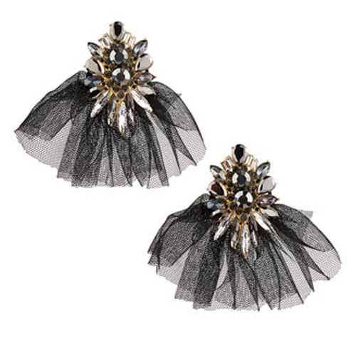 Stella and Ruby Tulle Crystal Earrings