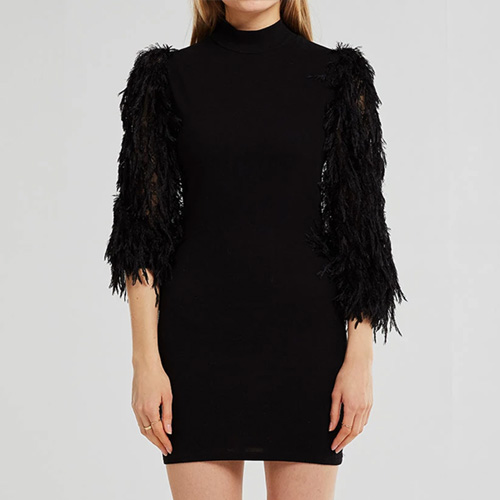 Storets Abigail Fluffy Sleeve Dress