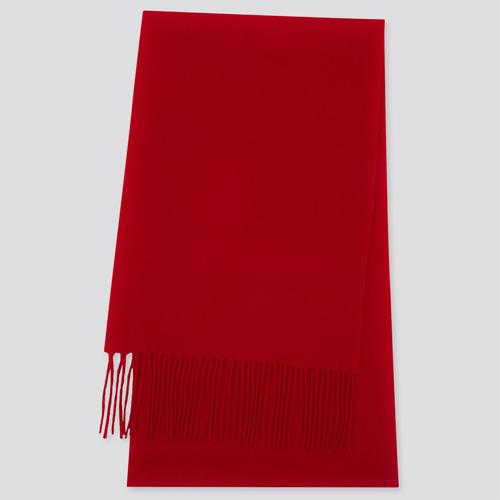Uniqlo Red Cashmere Scarf